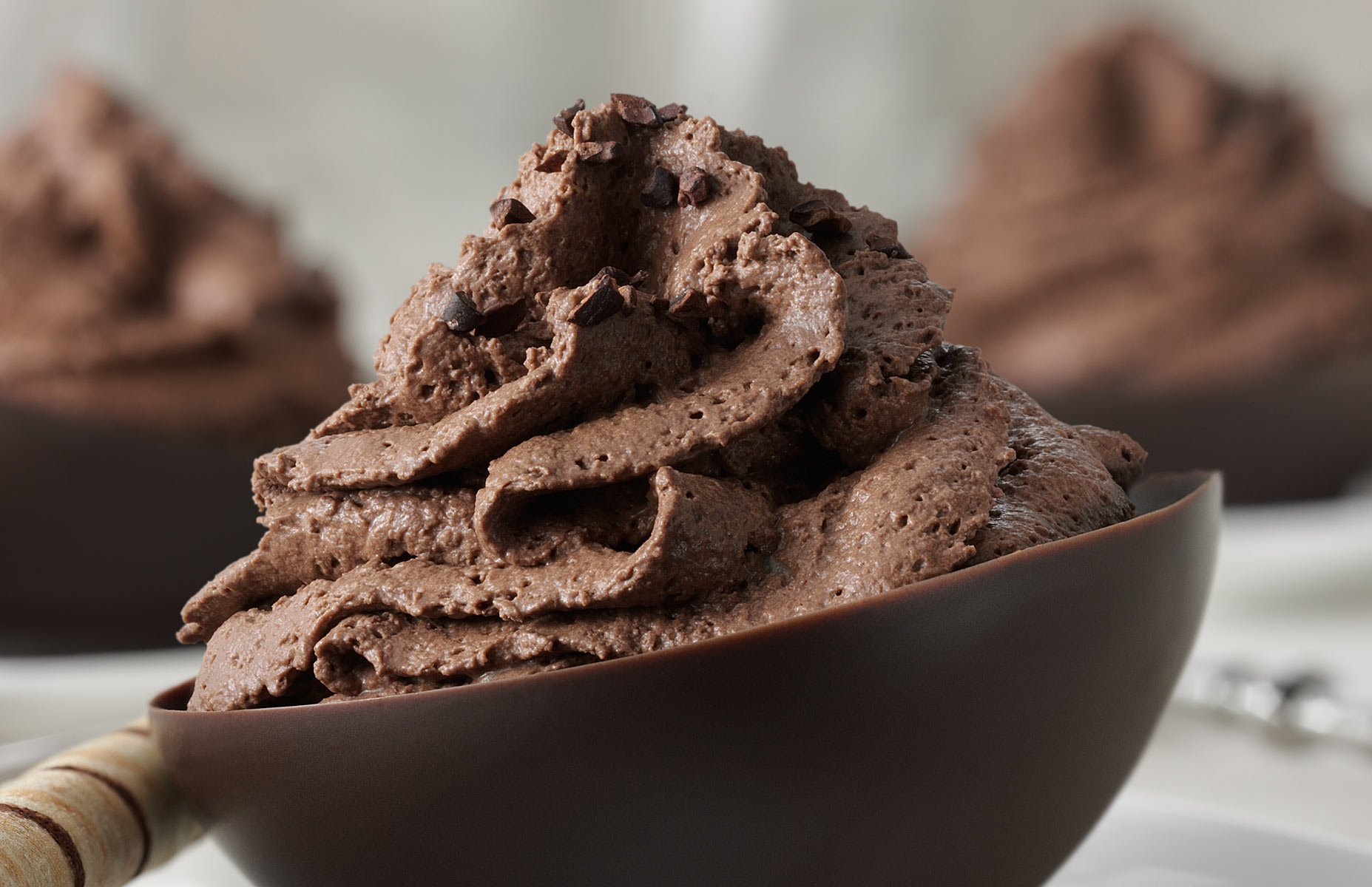 Chocolate Bowls and Mousse