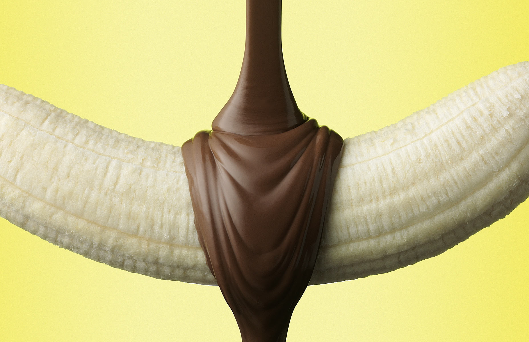 Chocolate Pour On Banana
