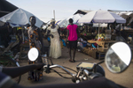 Locals sell their goods in the Bor market on Tuesday, 31 Oct. in Bor, South Sudan.