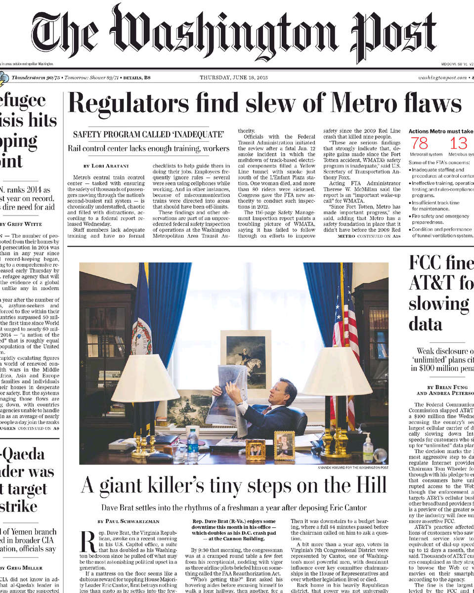 The Washington Post e-Replica - The Washington Post - 18 Jun 2015 - Page #1