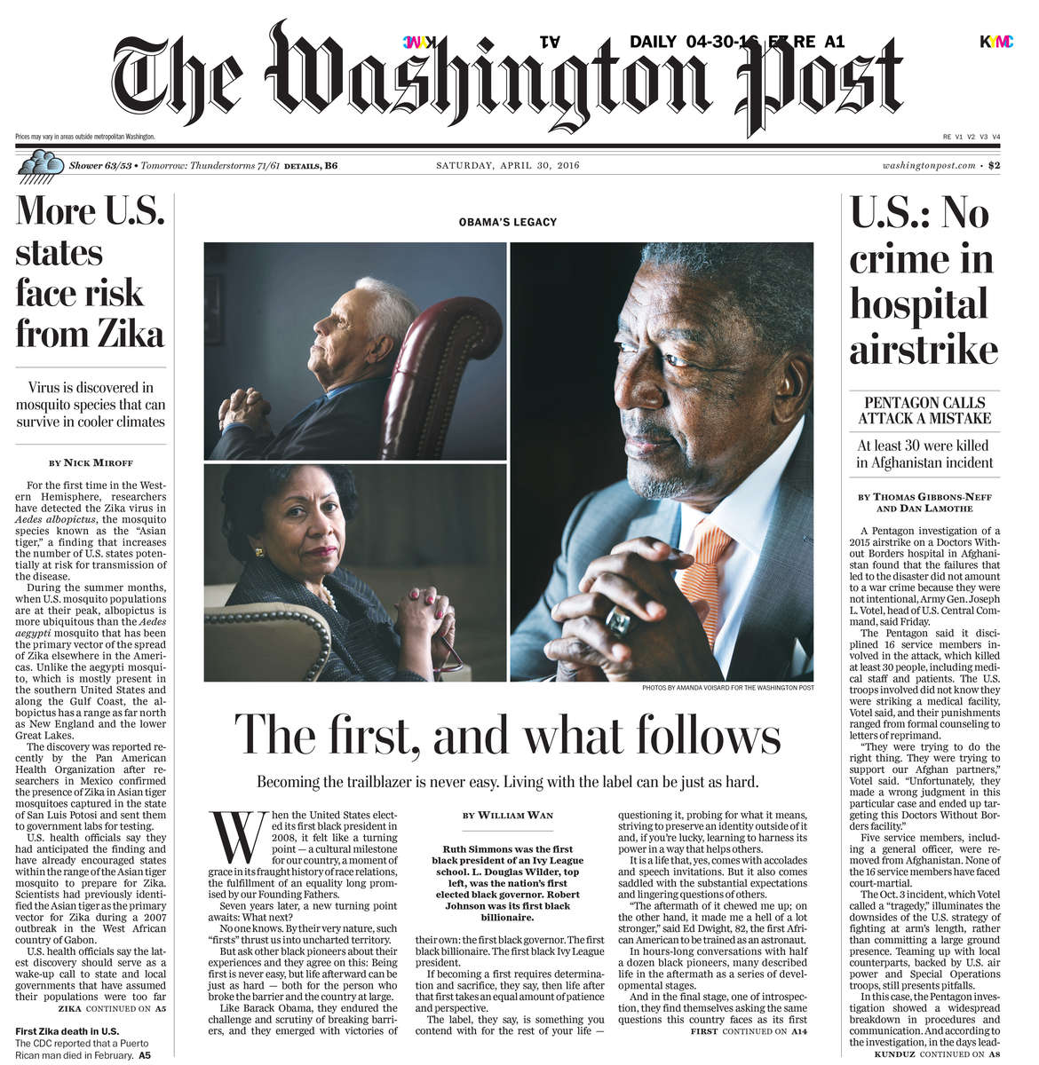 The Washington Post-Firsts