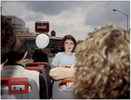 A young girl enjoys a ride on the Mexico City double decker tourbus {quote}Turibus{quote}, part of the landscapes of tourism series, Mexico City 2004. Exhibited in the Salon Malafama as part of the {quote}Vacaciones{quote} series, Mexico City July, 2006
