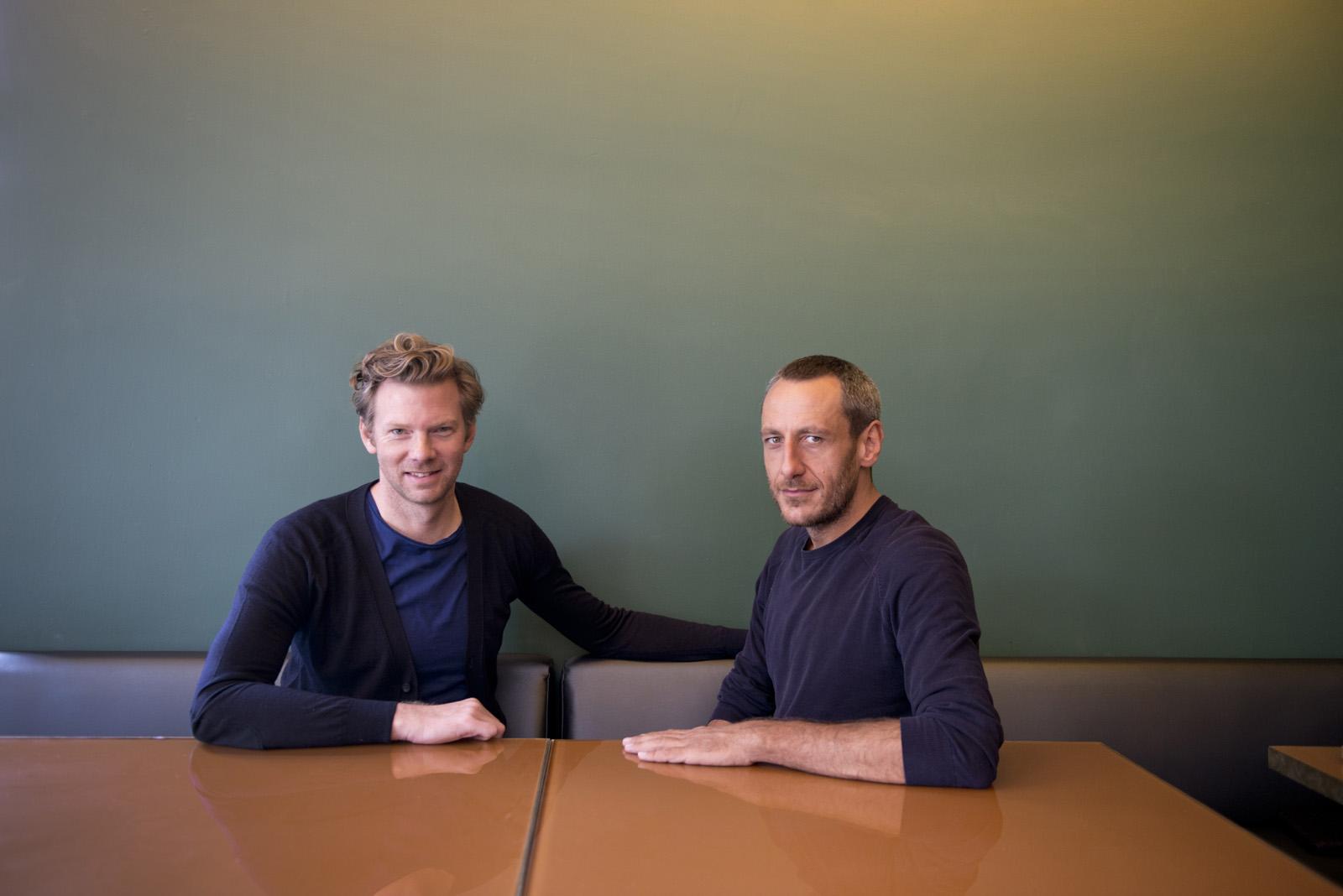 Brit Moran and Emiliano Salci founders of Dimorestudio at Casa Fayette. Habita Hotels, Guadalajara, Mexico