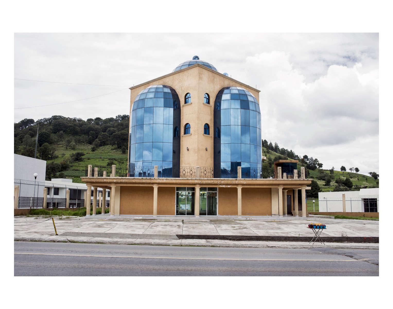 House in Santiago Tilapa. Architecture on the way to Malinalco in the Estado de Mexico, Mexico