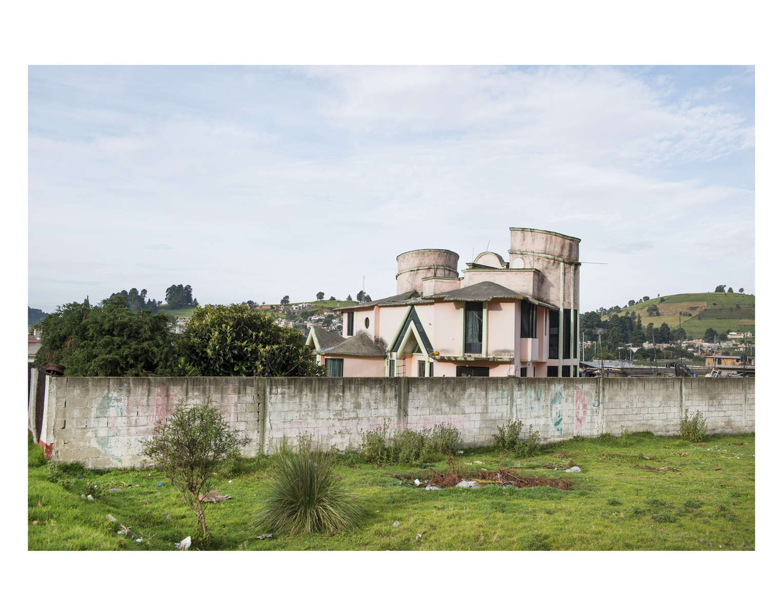 House in the village of Joquicingo de Leon Guzman. Architecture on the way to Malinalco in the Estado de Mexico, Mexico