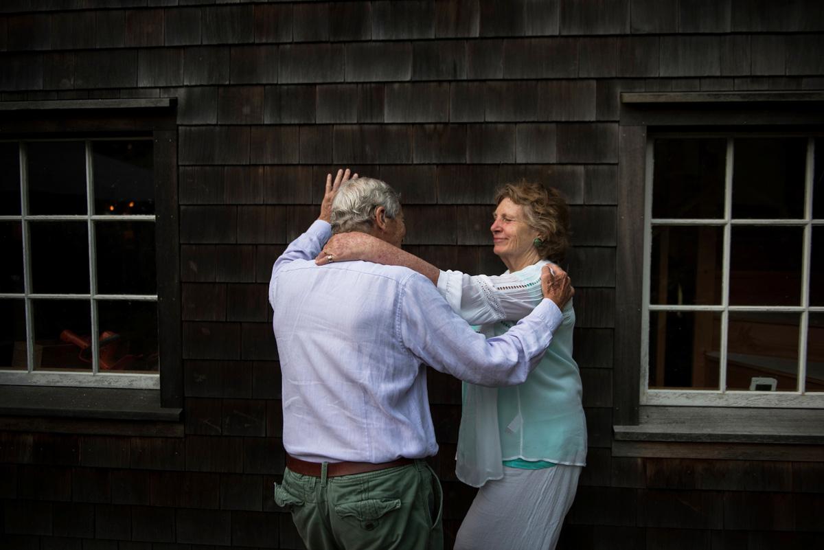 John and Sarah Wiseman at the Barn, Bridgehampton, New York, USA