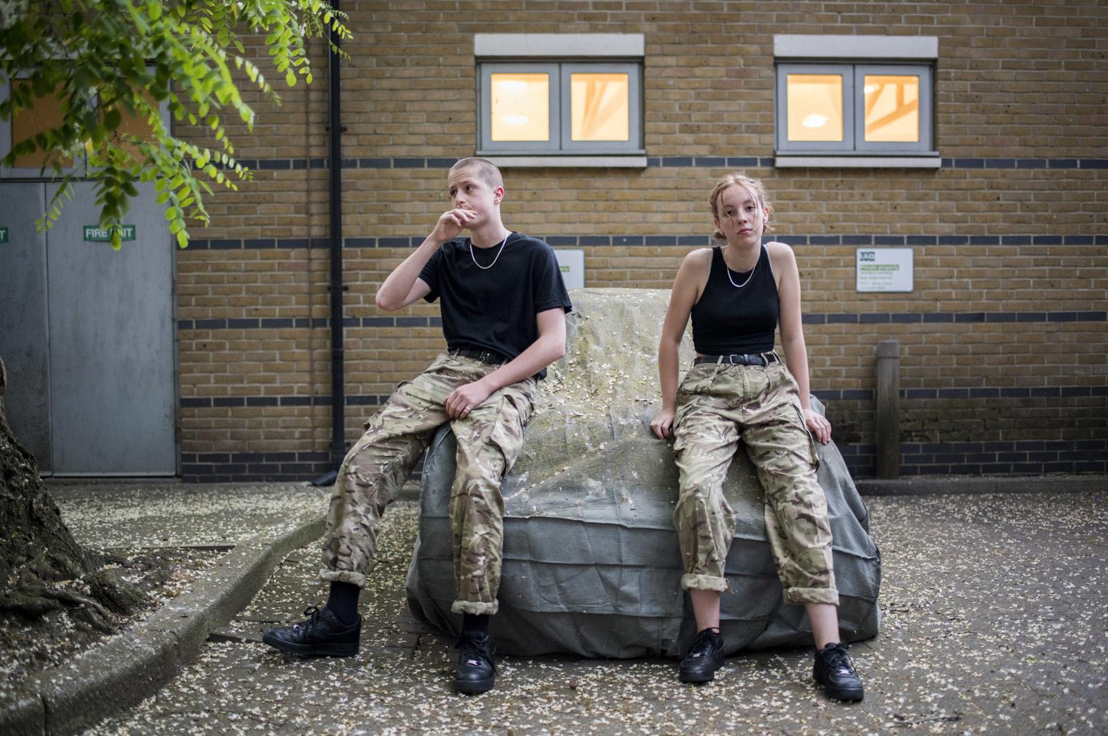 Portrait shoot of Mitchell and Vita Bradshaw, Kennington Road, London, UK
