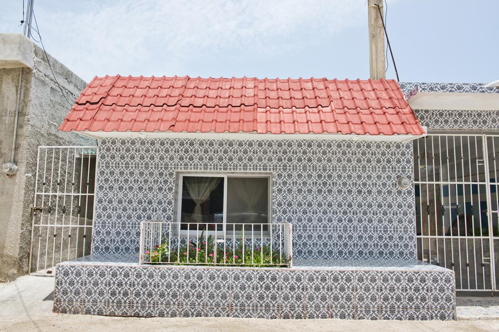 Local architecture Celestun, Yucatan, Mexico