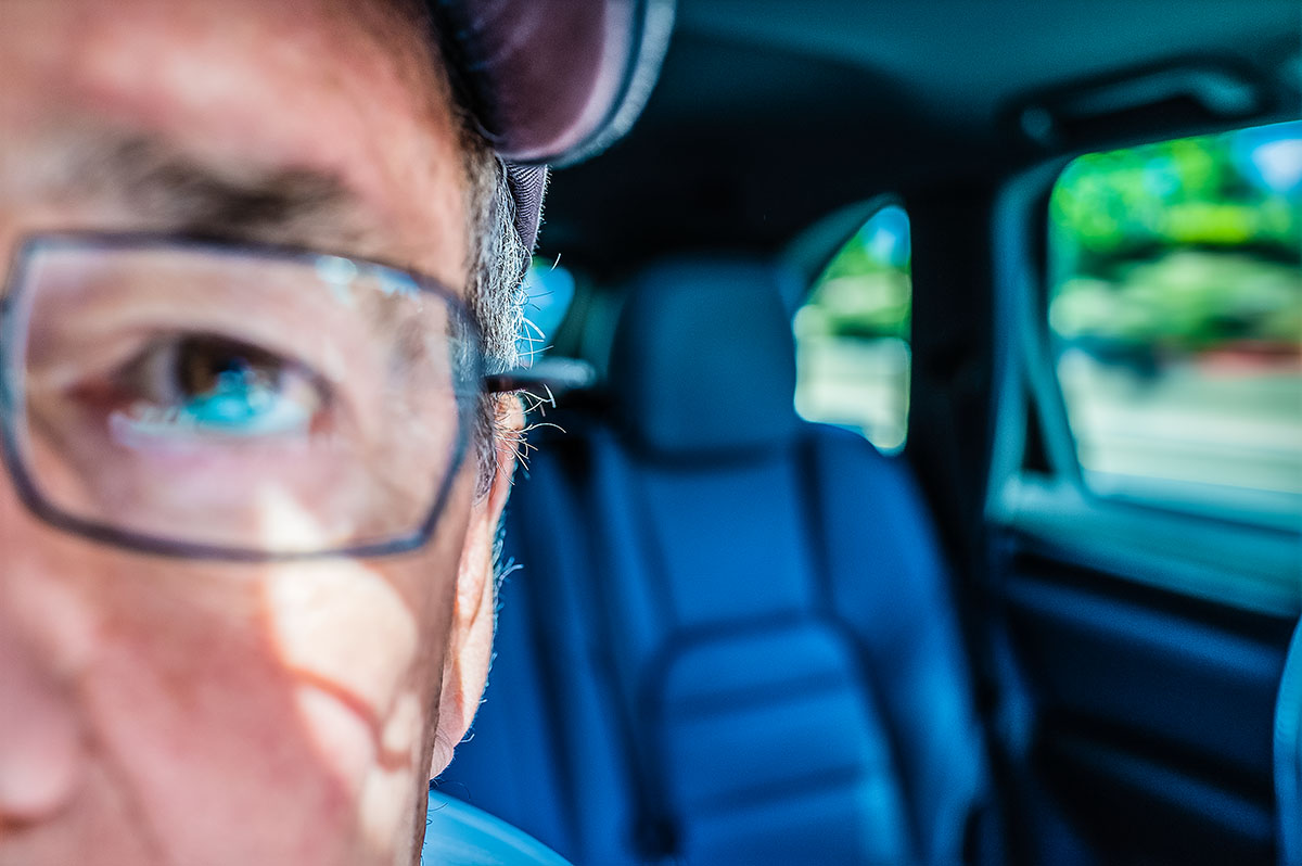 Self portrait in car