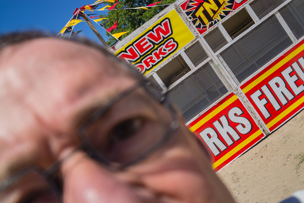 Selfie with Fireworks Stand