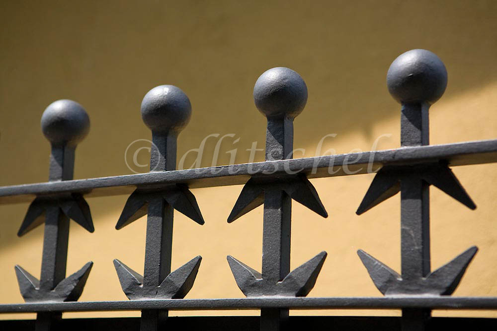 Decorative iron fence in Bellagio, Italy. To purchase this image, please go to my stock agency click here.