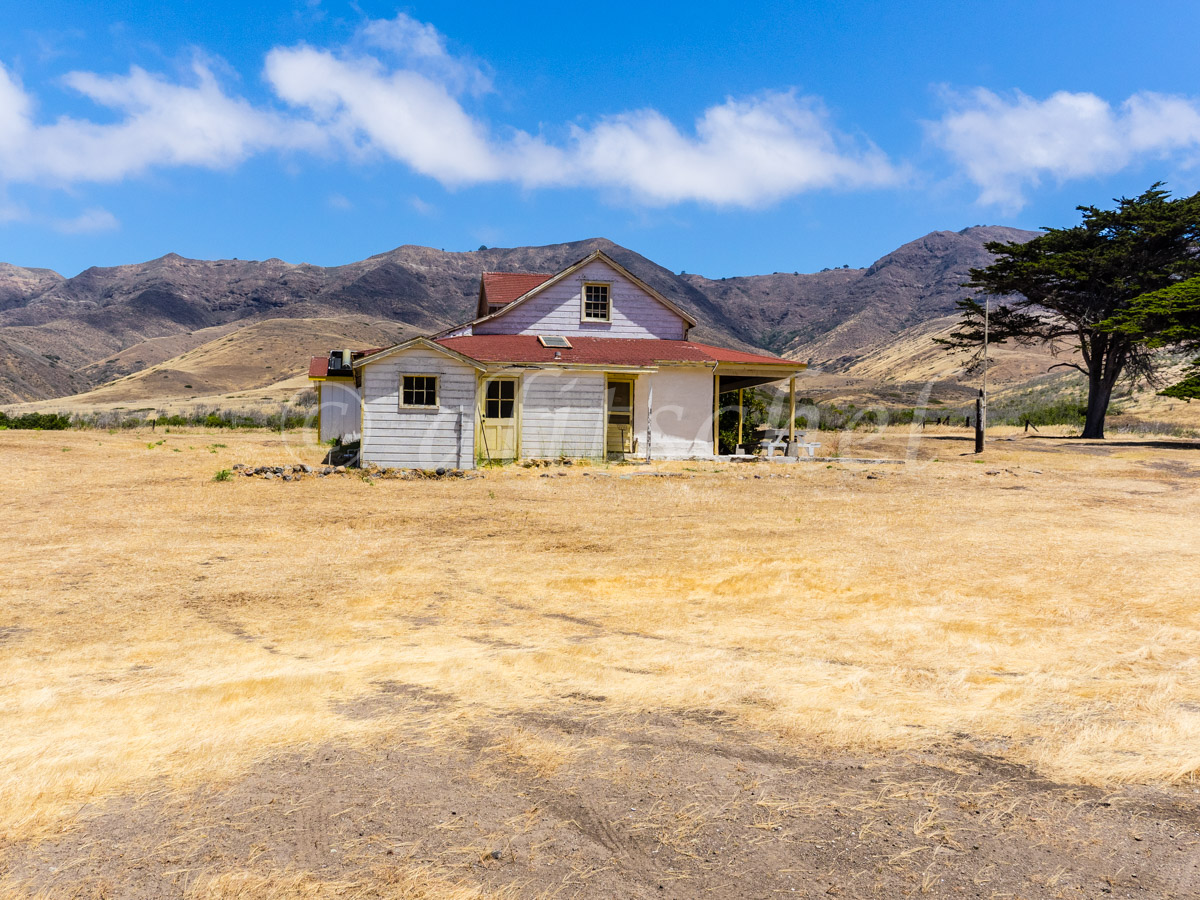 Christy Ranch House, Santa Cruz Island. Santa Cruz Island is the largest of the eight islands in the Channel Islands of California.