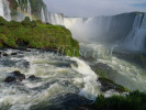 Image of the cataracts at Iguazu Falls, Foz de Iguazu, Brazil.