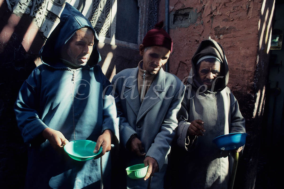 Marakish, Morroco Beggars