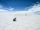 Salar de Uyuni salt flats, the largest of the world.