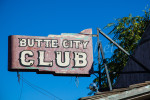 Old neon sign in Butte City, CA