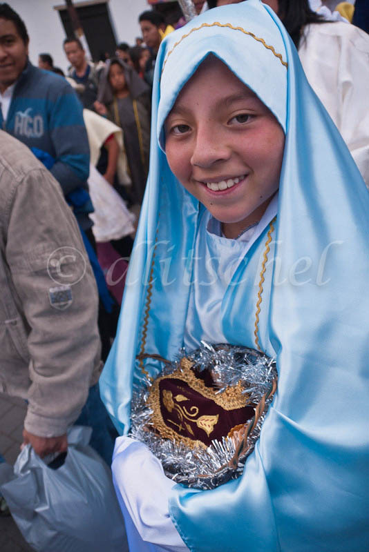 Children's parade, Quito, Ecuador, December 31, 2011.