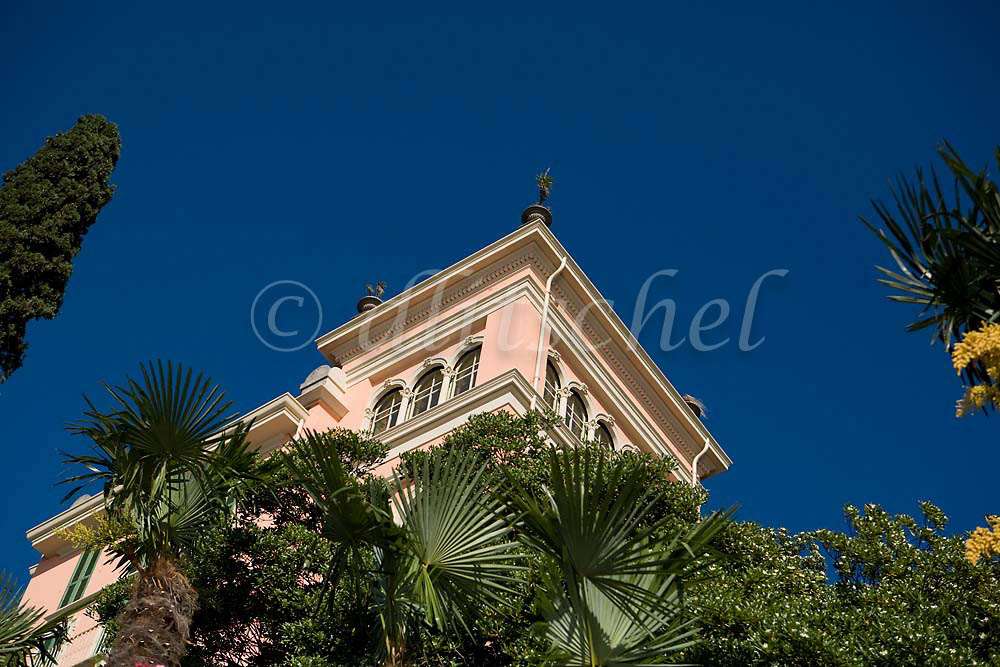 Detail of a house on a lakeside estate in Varenna, Italy on the shores of Lake Como. To purchase this image, please go to my stock agency click here.