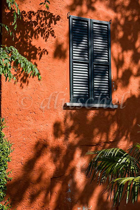 A typical brightly colored house in the Lake Como village of Varenna Italy. To purchase this image, please go to my stock agency click here.