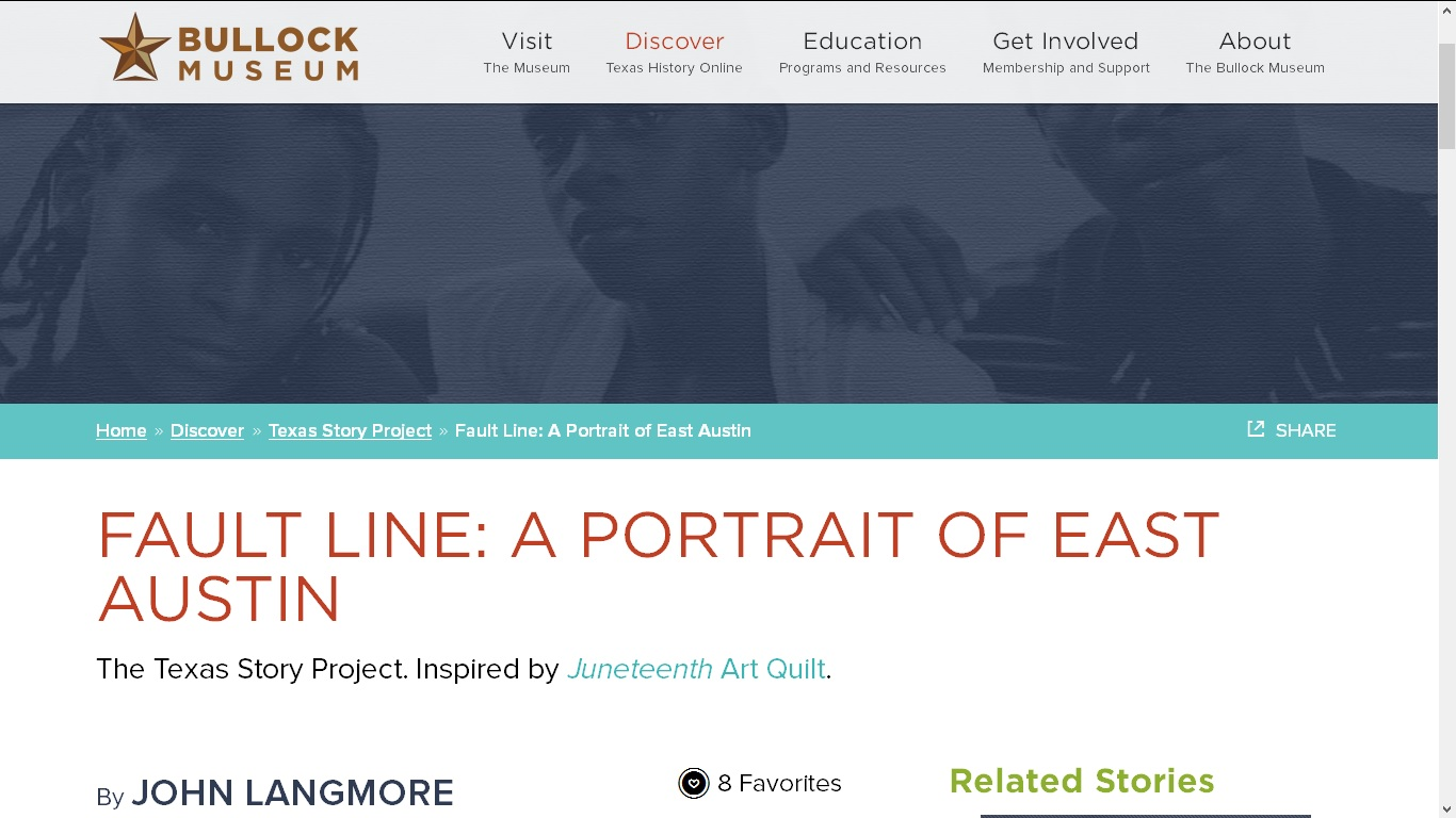 Visit {quote}Fault Line{quote} at the Bullock Museum's Texas Story Project