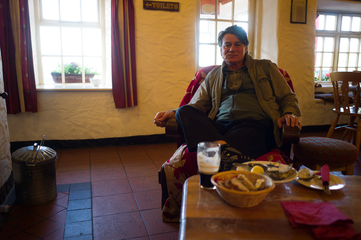 Poet David Whyte at Monk's Pub, Ballyvaughan