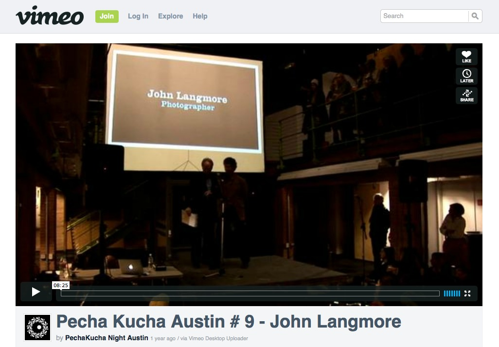 John talks about {quote}Fault Line{quote} at Pecha Kucha Austin #9:Pecha Kucha Austin #9