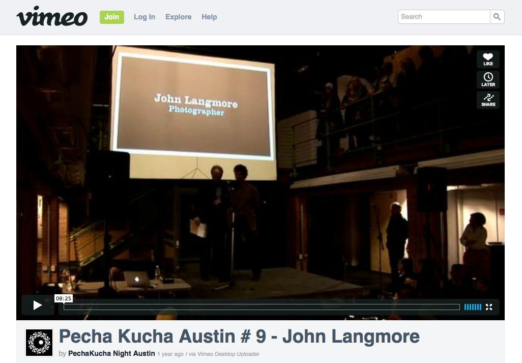 John talks about {quote}Fault Line{quote} at Pecha Kucha Austin #9:Pecha Kucha Austin #9