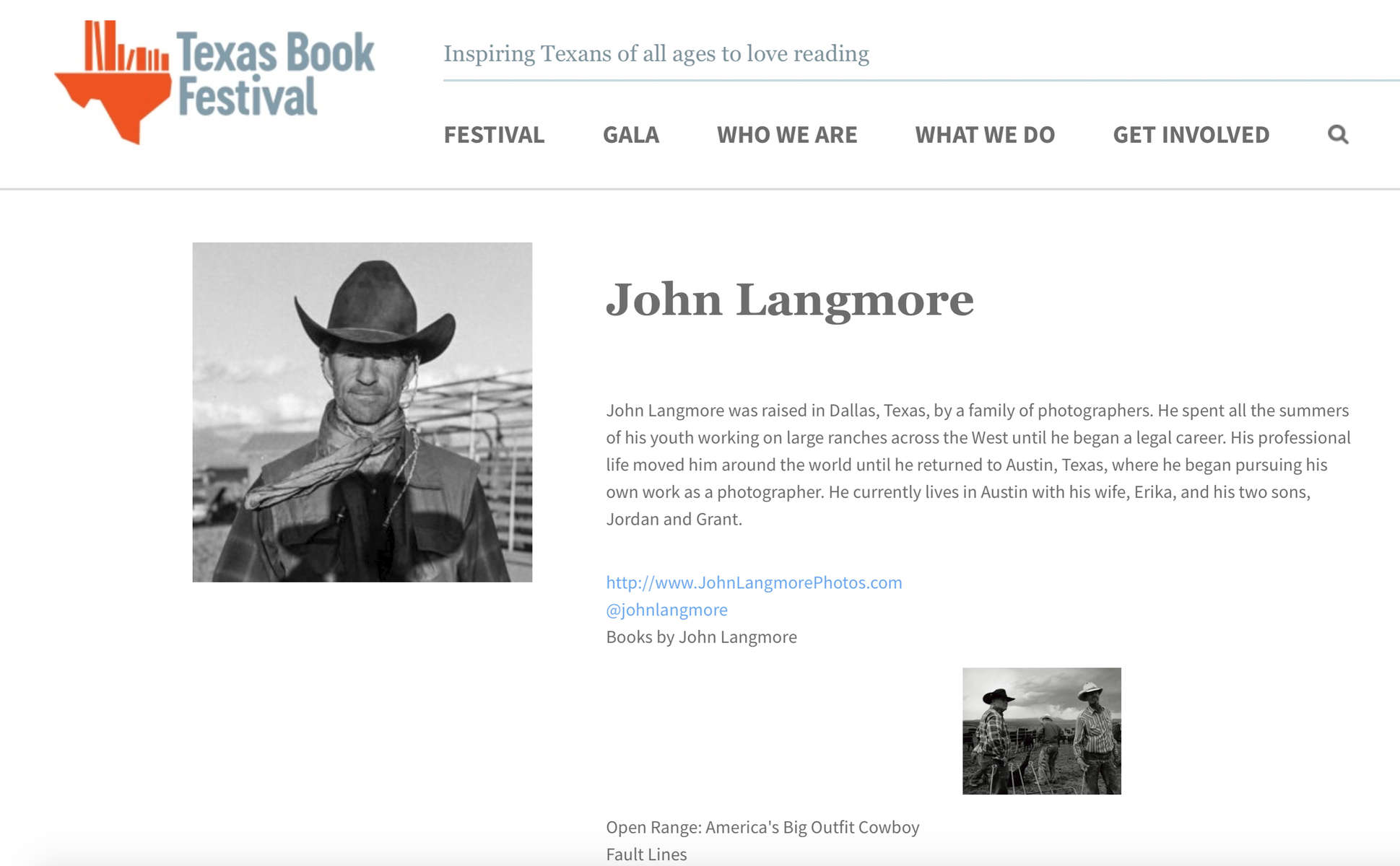 Join us at the Texas Book Festival October 2019.