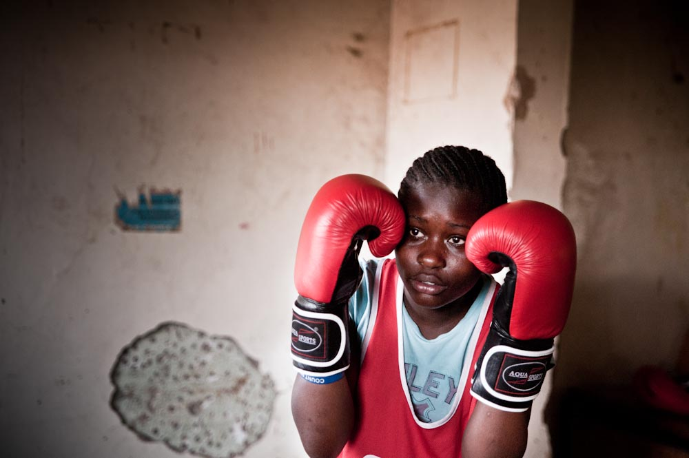 13 year old Mitchell Achieng has been a member of Boxgirls for 5 years.