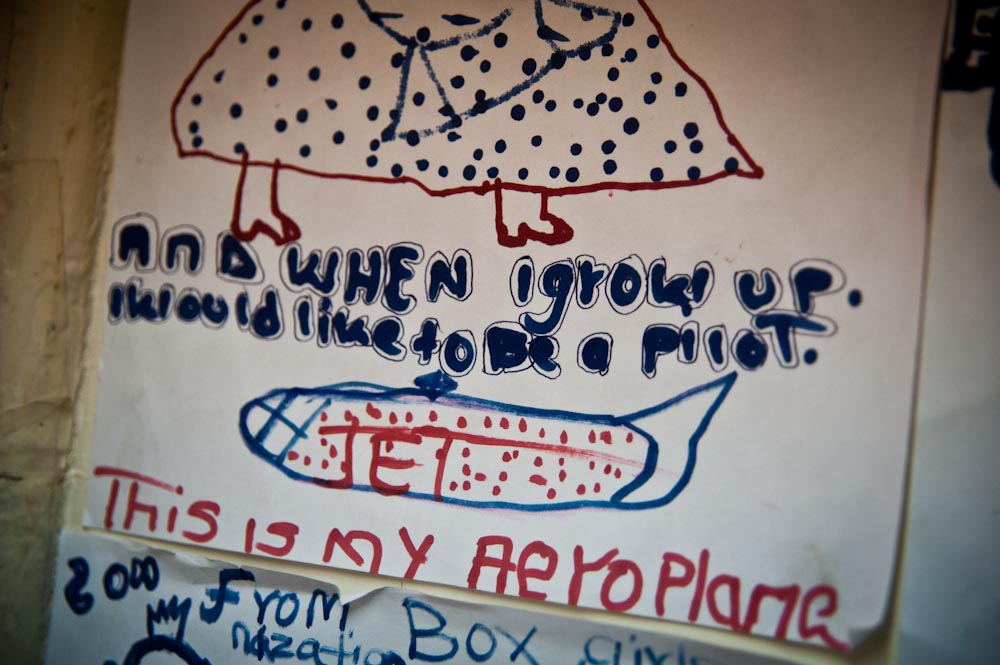 On the notice board of the Boxgirls office, Mitchell has written her dream.