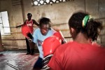 Sarah fights another professional boxer. Both are Boxgirl graduates. Sarah is currently the best professional female boxer in East Africa under the feather weight category.