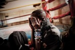 Sonko after a boxing match with Kenya's Olympian, Elizabeth Andiego at the Pal Pal Boxing Ring, Nairobi, Kenya.