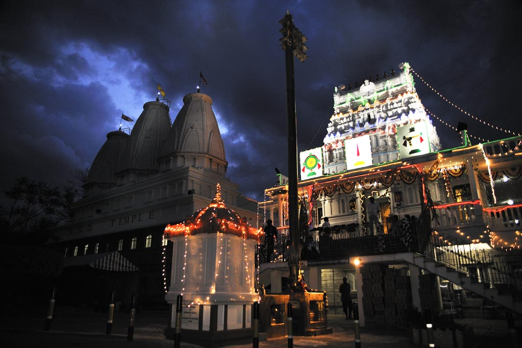 SSD Temple Nairobi, Kenya, during the celebrations of Navrartri.