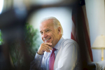 Vice President Joe Biden in his West Wing office at the White House in Washington.Photo by Brooks Kraft/Corbis