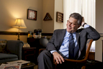 Democratic US Senator for Minnesota Al Franken in his Capitol Hill office in Washington.