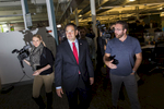 Republican Presidential candidate Marco Rubio attends a campaign event at the technology company Dyn in Manchester, NH