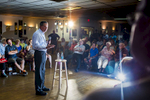 Republican Presidential candidate and Ohio Governor John Kasich attends a town hall at the Derry-Salem Elks Lodge in New Hampshire.