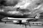 The Presidential aircraft lands in Paris, France