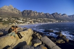 The Camps Bay region of Cape Town, the most southern city in Africa, and the continent's most popular tourist destination.  Cape Town provides a setting for many scenic wonders, magnificent seascapes and panoramic vistas.