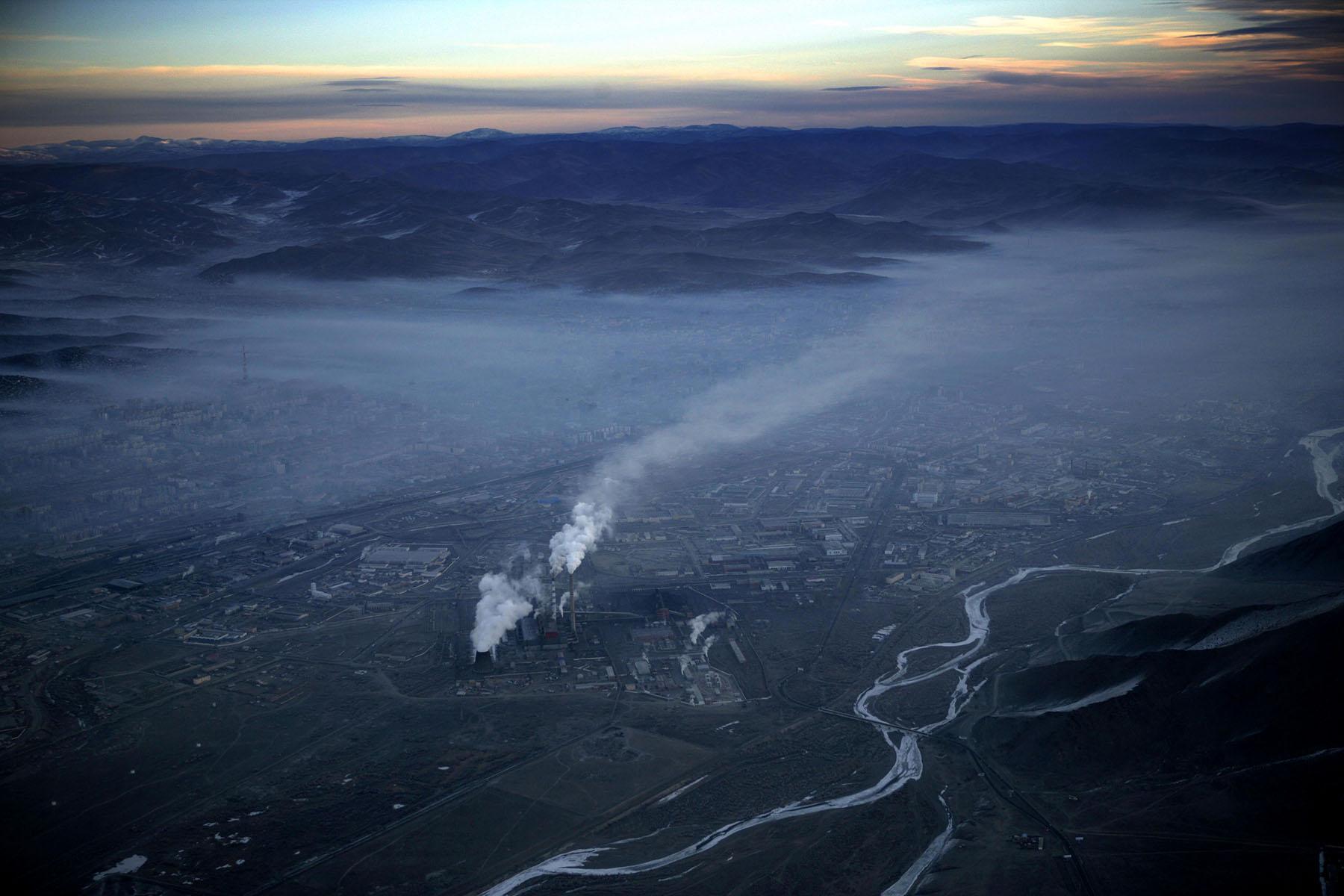 Aerial view of Ulan Bator, Mongolia, November 21, 2005.Photo by Brooks Kraft/Corbis
