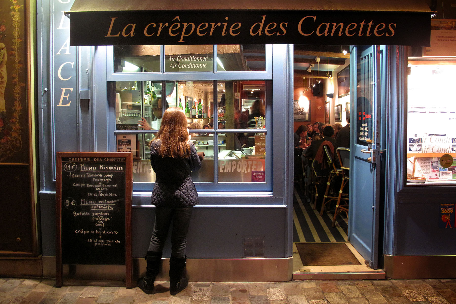 A creperie on the left bank of Paris.Photo by Brooks Kraft/Corbis