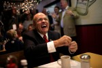 Republican presidential candidate, former New York Mayor Rudy Giuliani during a campaign stop at Suzie's Diner in Hudson, N.H.