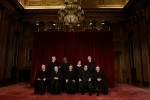 Justices of the Supreme Court of the United States pose for a 2006 class photo inside the Supreme Court in Washington 