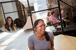 Google debuts its new wearable computer called Google Glass in Washington, DC.   It is designed to work like a smartphone that's worn like a pair of glasses.    It allows users to discreetly shot hands free pictures and video that can be instantly shared.
