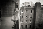 Actress Ashley Greene photographed September 27th, 2012 on a balcony at the Crosby Hotel in Soho. The actress is best known for her roles in the Twilight franchise of movies.