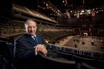 Brooklyn Nets co-owner and developer Bruce Ratner photographed in the new Barclay's Center as the finishing touches are put on the building.