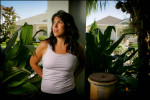 Tennis star Jennifer Capriati poses at her home in Jupiter, Florida. Capriati, a prodigy and star since age 13, finds her career at a crossroads due to injury.