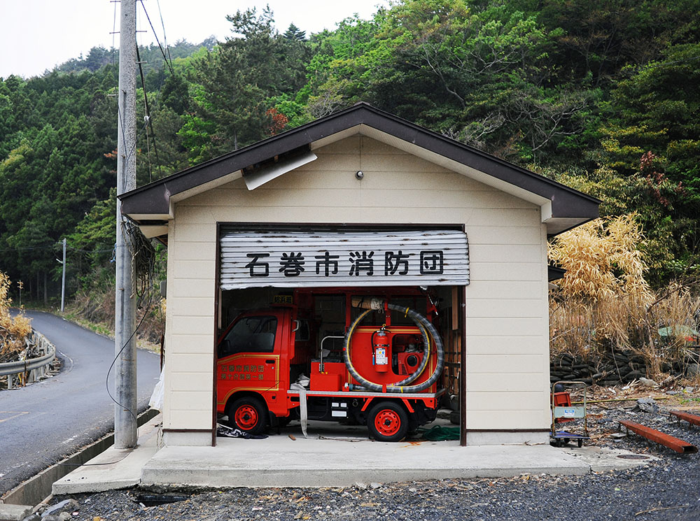 Unused and abandoned fire engine at Hamagurihama in Ishinomaki, Miyagi prefecture.
