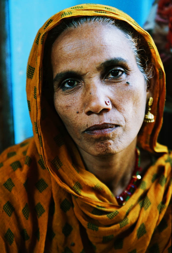 Shaha Zadee,48,suffers from burning eyes and stomach pain due to the contaminated water in Blue Moon colony. Her all six childrenalso suffer from the contaminated water.