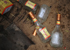 Discarded and consumed Chinese hard liquors at the funeral party of Li Chuan hua's father which lasted for consecutive three days.
